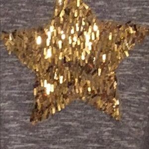 total girl Shirts & Tops - Girls Sweater - Gray With Gold Sequin Star